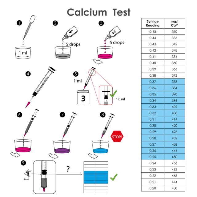Marine Lab - Calcium Test Kit Instructions